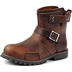 Men's Boots High-Top Leather Simple Approach-hiking Mountaineering Outdoor Shoes Casual HXZ-ZSX122