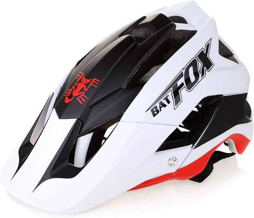 OMGPFR Casco De Bicicleta De Montaña para Adultos, 14 Venteo Absorción Absorción De Impactos PC Resistente A Los Golpes Casco De Bicicleta De Montaña Deportiva