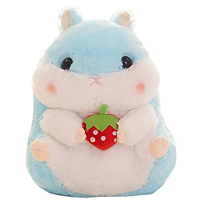 """ChezMax Animal Plush Toy Stuffed Pillow Pet Cushion Gift for Kids Hamster with Strawberry 15"""": Home & Kitchen"""