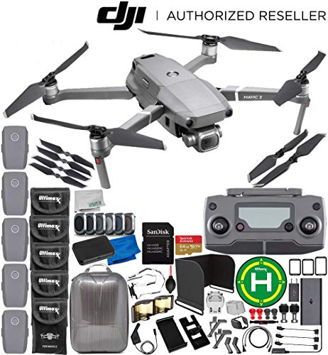 DJI Mavic 2 Pro Drone Quadcopter with Hasselblad Camera 1″ CMOS Sensor 5-Battery 64GB Ultimate Bundle
