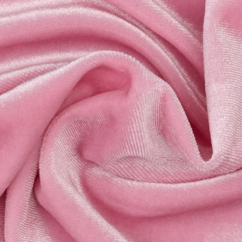(Richland Textiles Stretch Velvet Knit Pink Fabric by The Yard,)