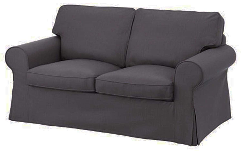 HomeTown Market Sofa Covers Custom Made for IKEA Ektorp Armchair Slipcovers (Polyester Flax Blue, Ektorp Chair)