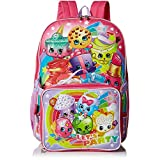Shopkins Girls' Backpack with Lunch, Pink