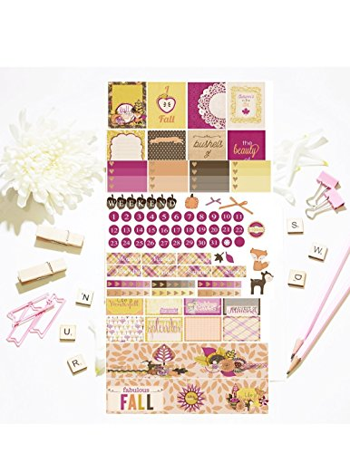 Wonderfull Fall, planner sticker kit, 5 pages on matte sticker paper. Choose your planner style from Erin Condren to Happy Planner. Kiss cut, just peel and stick.