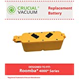 Long Lasting Rechargeable 14.4V, 2500mAh Battery for iRobot Dirt Dog, Roomba 400, Discovery, Create models; Compare to iRobot Part No. 17373; Designed & Engineered by Think Crucial
