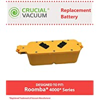 Replacement for iRobot 14.4V 2500mAh Battery Fits Dirt Dog, Roomba 400, Discovery & Create, Compatible With Part # 17373, Long Lasting & Rechargeable, by Think Crucial