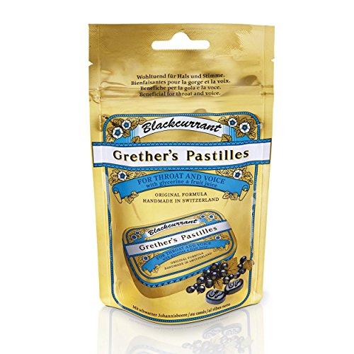 GRETHER'S PASTILLES BLACK CURRANT 100G/3.4OZ
