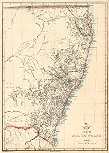 weller 1863 old map antique map vintage map new south wales maps
