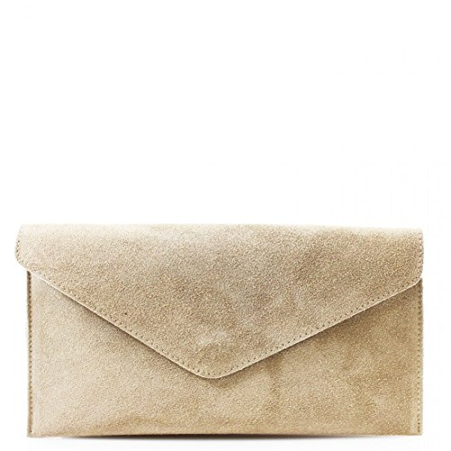 BAGS SUEDE LADIES BAGS PROM BODY WKDS LEATHER Beige SHOULDER WOMEN REAL SIDE CROSS PARTY CLUTCH dqPqXEw