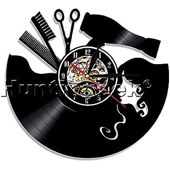 Amazon Com The Geeky Days Hair Salon Vinyl Record Wall Clock Hair