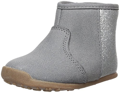 (Carter's Every Step Girls' Stage 2 Stand, Amylene-SG Fashion Boot, Grey,3.0 M US (9-12 Months))