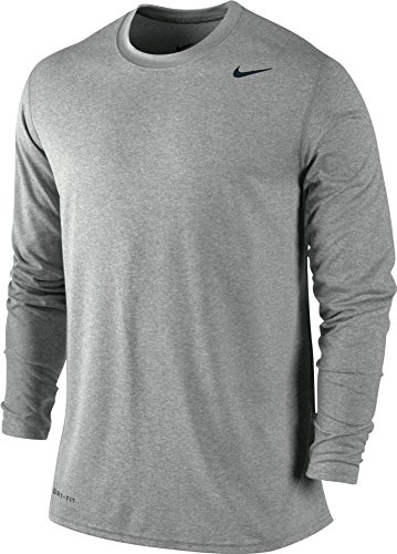Grey Nike Legend (Nike Men's Legend Long Sleeve Tee, Grey, 2XL)