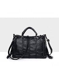 MSXUAN PU leather Classic Women's Handbags & Purses (Black)