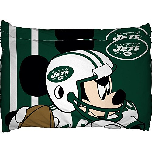 New York Jets NFL and Disney's Mickey Mouse Pillow Case Set 2pc