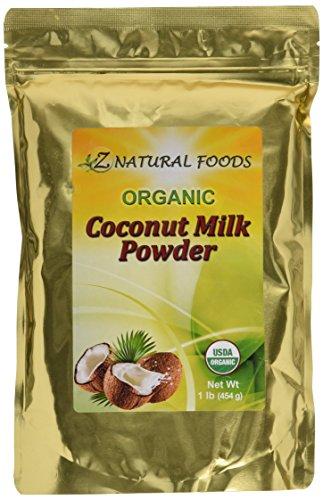 Z Natural Foods Coconut Milk Powder, 100% USDA Certified Organic, 1 lb.