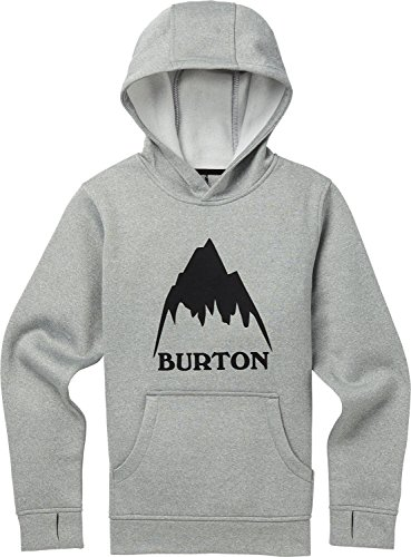 (Burton Boys Oak Pullover Hoodie Monument Heather W19, Large)