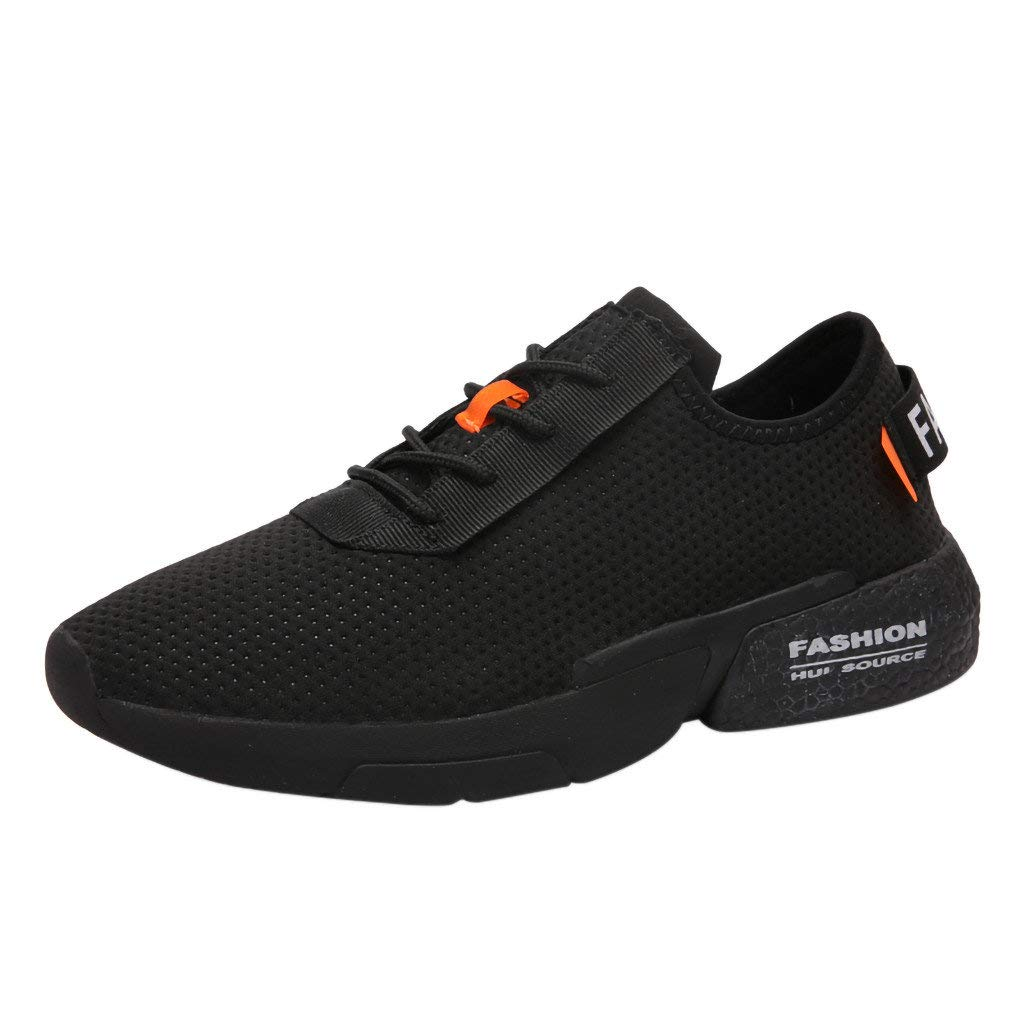 f969fe2da7 BaZhaHei Mens Breathable Trainers Gym Fitness Sports Shoes Running Sneakers  Air Cushion Athletic Walking Shoes Lace-up Comfortable Footwear Size ...
