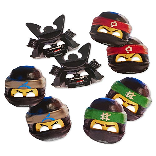 American Greetings Lego Ninjago Paper Masks, 8-Count, Multicolored