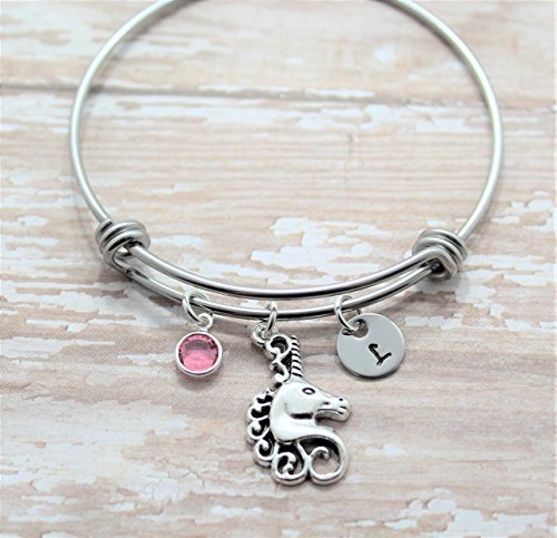 907eeb21203a Unicorn Bracelet - Unicorn Jewelry for Girls - Personalized Birthstone    Initial - Fast Shipping - Buy Online in Oman.