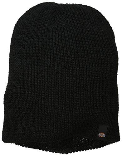 Black Beanie Cap Reversible (Dickies Men's Reversible Stripe Grey Slouch Beanie, Black, One Size)