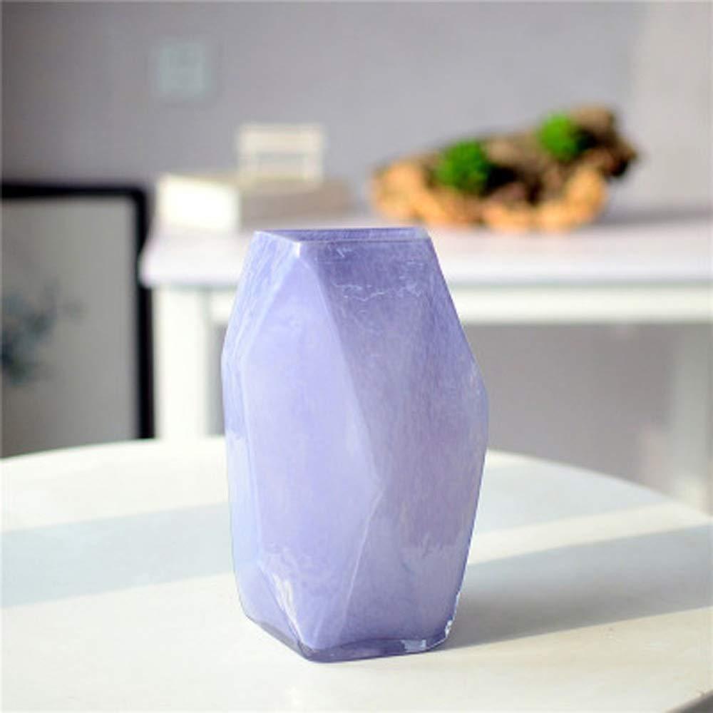 色ガラス花瓶用花緑植物結婚式の植木鉢装飾ホームオフィスデスク花瓶花バスケットフロア花瓶 (サイズ さいず : M m) B07R231VTY  M m