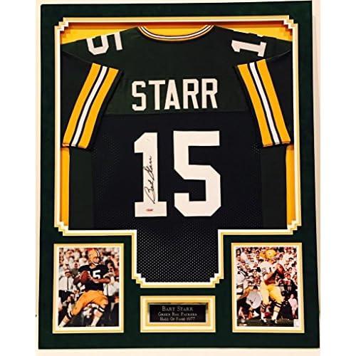 567edd960f4 Bart Starr Signed 34x42 Custom Framed Jersey  Tristar COA Packers autograph  - JSA Certified - Autographed