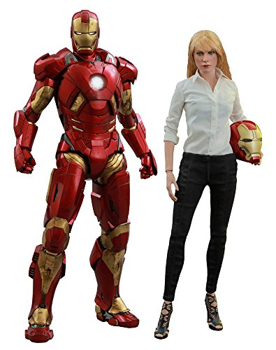 Iron Man Mark 5 Costume (Iron Man 3 Movie Masterpiece Pepper Potts and Mark IX Armor Collectible Figure)