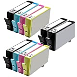10 Inkfirst® Ink Cartridges (HP 564XL) Compatible Remanufactured for HP 564 564XL Black, Cyan, Magenta, Yellow (High Capacity) (2 Set + 2 Black) OfficeJet 4620 6512 6515 Photosmart B210a C309g C309a NEW VERSION CN684WN, CN685WN, CN686WN, CN687WN