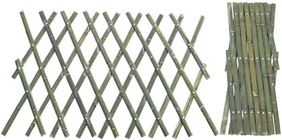 CHUWUJU Wood Trellis 48x180cm,Garden Trellis,Wood Planter Trellis Plant Raised Trellis,Folding Expandable Wooden Trellis Fence for Climbing Plants, Vegetables (Retractable Trellis)