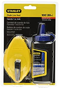 Stanley 47-442 Chalk Reel with Blue Chalk