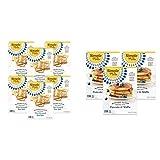 Simple Mills Almond Flour Crackers, Fine Ground Sea Salt, Gluten Free, Flax Seed, Sunflower Seeds, Corn Free, 6 Count & Almond Flour Pancake Mix & Waffle Mix, 3 Count