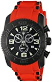 Swiss Legend Men's 'Commander Pro' Quartz Stainless Steel and Silicone Automatic Watch, Color:Red (Model: 10070-BB-01-RDS)