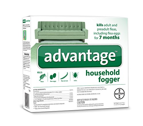 Flea and Tick Household Fogger, three 2 oz canisters, (Best Flea Bombs)