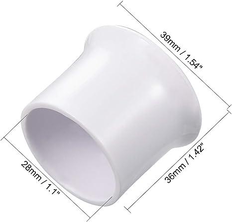 2 Pack Sourcing map Embouts de tringle /à rideaux en plastique Style moderne blanc