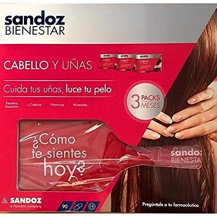 SANDOZ BIENESTAR TRIPACK CABELLO Y UÑAS: Amazon.es: Salud y cuidado ...