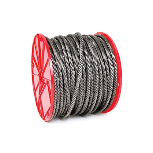 Koch Industries 019213 6 x 19 Wire Rope, Fiber Core 1/4-Inch by 500 Feet, 9-Inch Reel