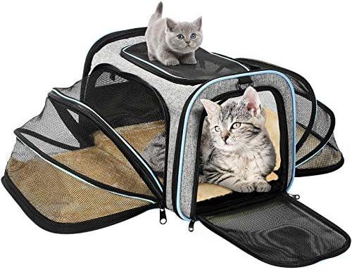 OMORC Transportin Gato Perro, Bolsa de Transporte Transpirable para Mascotas, Estructura Sólida Fácil de Almacenamiento y Espaciosa, 76*46*25CM, Cómodo Bolso para Transporte en Tren, Coche, Avión: Amazon.es: Productos para mascotas