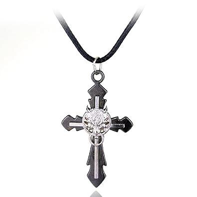 Final fantasy necklace fenrir wolf steampunk anime gothic cross final fantasy necklace fenrir wolf steampunk anime gothic cross pendant mozeypictures Choice Image