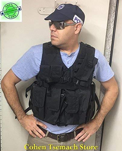Hagor Negro Oficial SWAT chaleco táctico militar Cordura Combat Arnés IDF israelí
