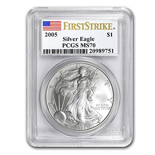 2005 Silver American Eagle MS-70 PCGS (First Strike) 1 OZ MS-70 PCGS
