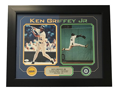 KEN GRIFFEY JR. SIGNED 8X10 PHOTO COLLAGE FRAMED JSA COA MARINERS from Unknown