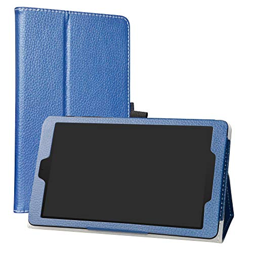 Alcatel 3T 8 Case,LiuShan PU Leather Slim Folding Stand Cover for T-Mobile Alcatel 3T 8 Inch 2018 Android Tablet PC,Blue