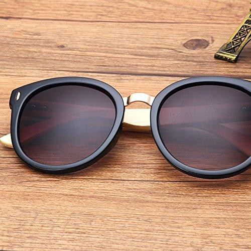 Para Espejo Regalo Gris Gafas De Caja Color Gradual Sol Con TIANLIANG04 La Gray De Negro Redondo Gradual Black Mujer qpI1Pwf
