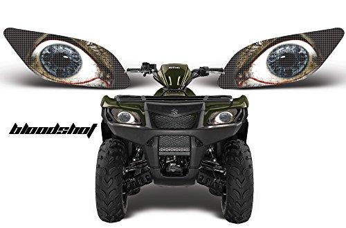 (AMR Racing ATV Headlight Eye Graphic Decal Cover for Suzuki King Quad 500 AXi 13-15 - Bloodshot)