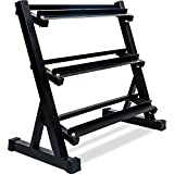Merax 3 Tier Dumbbell Rack 800 LBS Weight Capacity (Black Color)