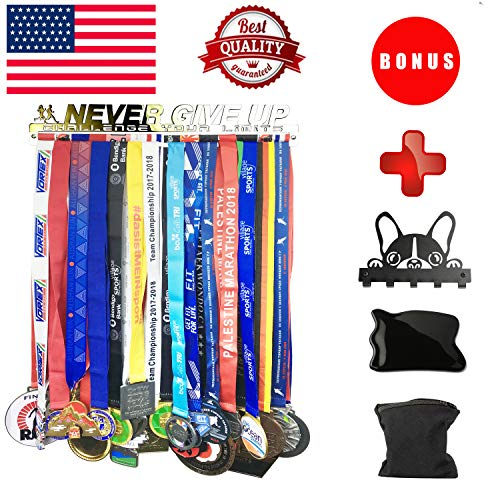 (Medal Hanger Holder Display Rack for 30 Medals Application for All Sports Stainless Steel Medal Hanger Holder, Race Medal Display Holder,Hanger for Medals,Bonus 3 Included for Christmas!!!)