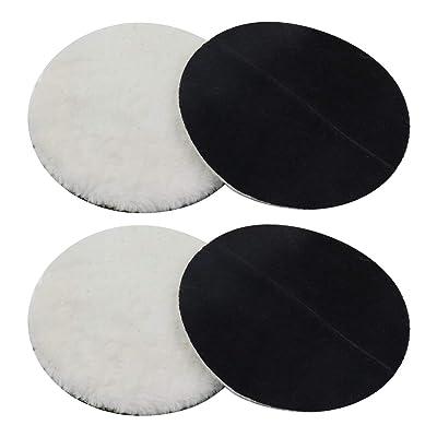 """ZXHAO 7"""" Wool Polishing Pad Soft Sheepskin Buffing Pads 4pcs: Home Improvement"""