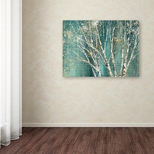 Trademark Fine Art Blue Birch by Julia Purinton, 14x19-Inch Canvas Wall Art by Trademark Fine Art (Image #2)