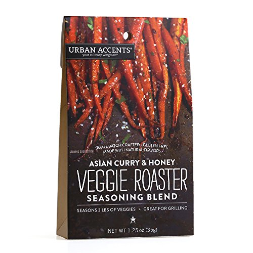 Asian Curry and Honey Veggie Roaster Seasoning Blend - Vegetable Spice Mix, Urban Accents 1.25 Ounce (Roasted Red Potatoes And Onion Soup Mix)