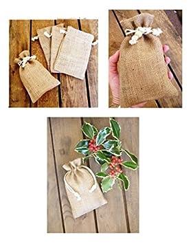 pack de bolsas de arpillera pequeas cordn liso yute en arpillera natural cdigo